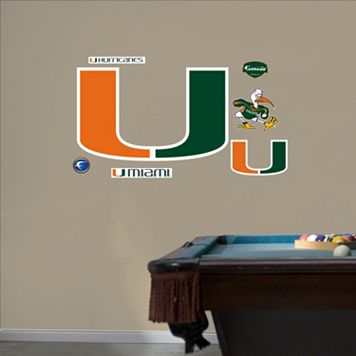 Fathead Miami Hurricanes Logo Wall Decals