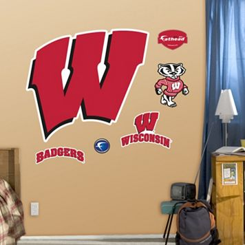 Fathead Wisconsin Badgers Logo Wall Decals