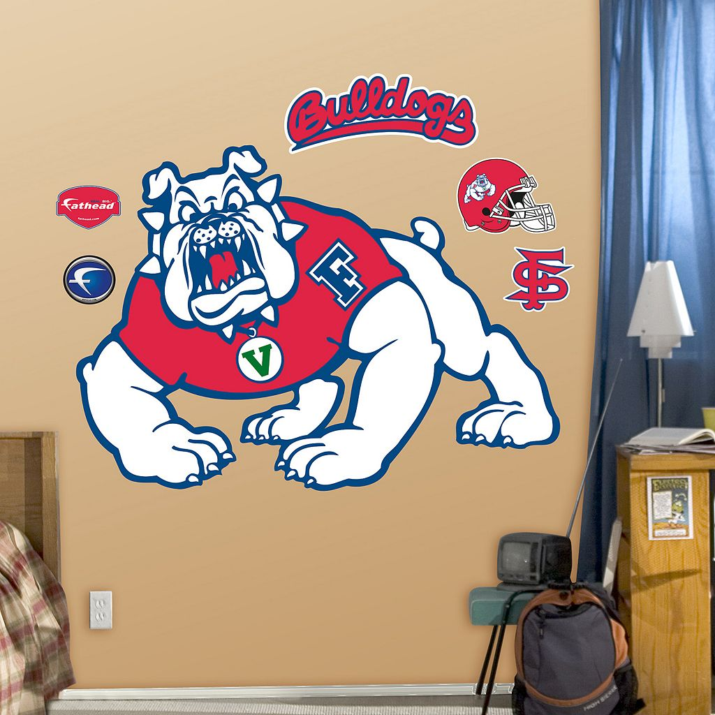 Fathead Fresno State Bulldogs Logo Wall Decals