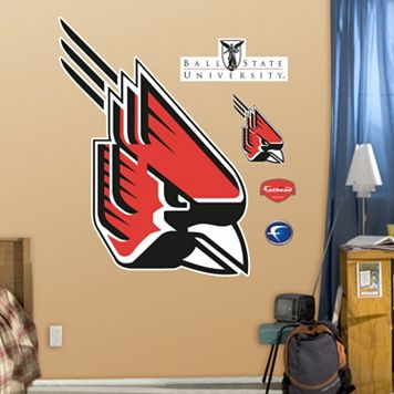 Fathead Ball State Cardinals Logo Wall Decals
