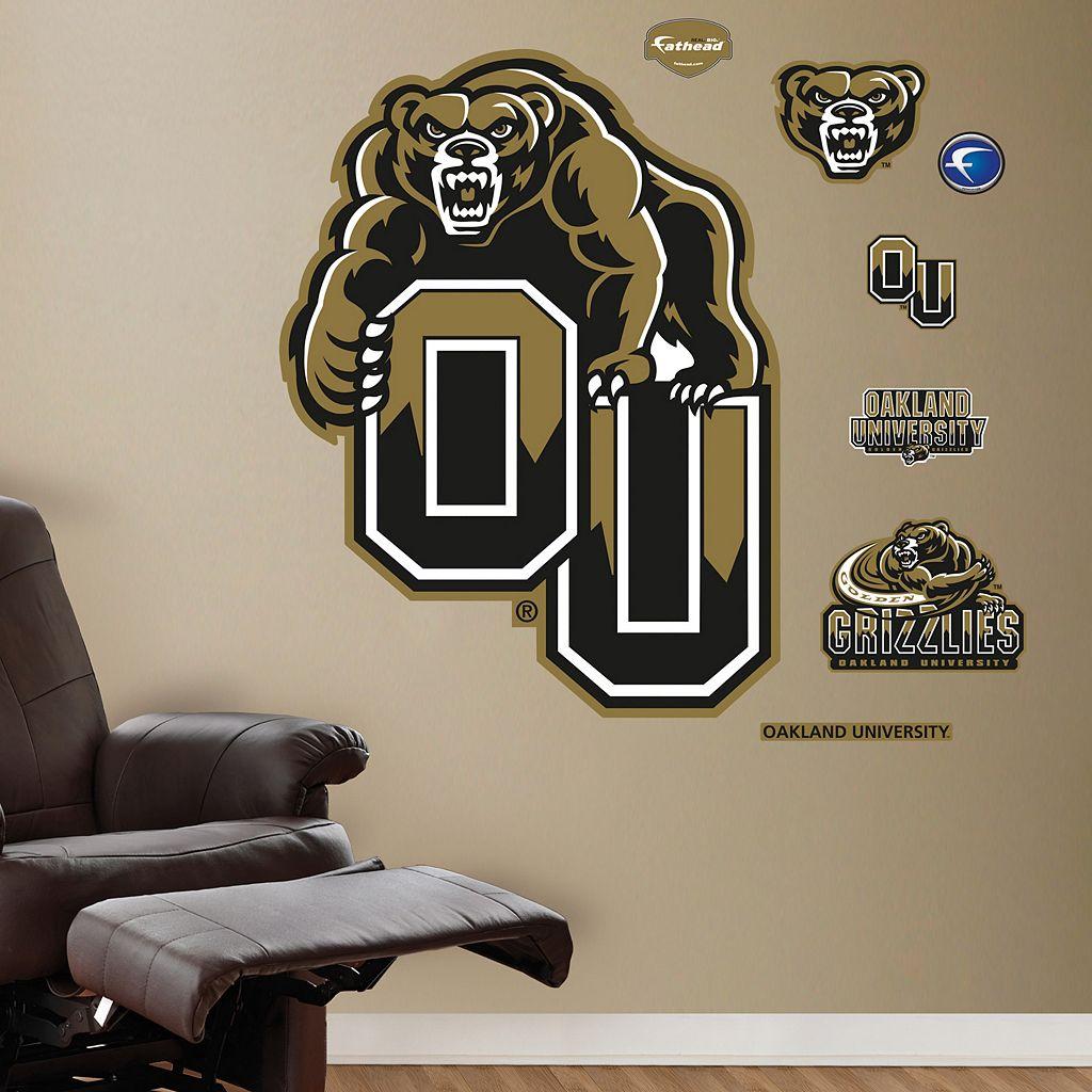 Fathead Oakland Golden Grizzlies Logo Wall Decals