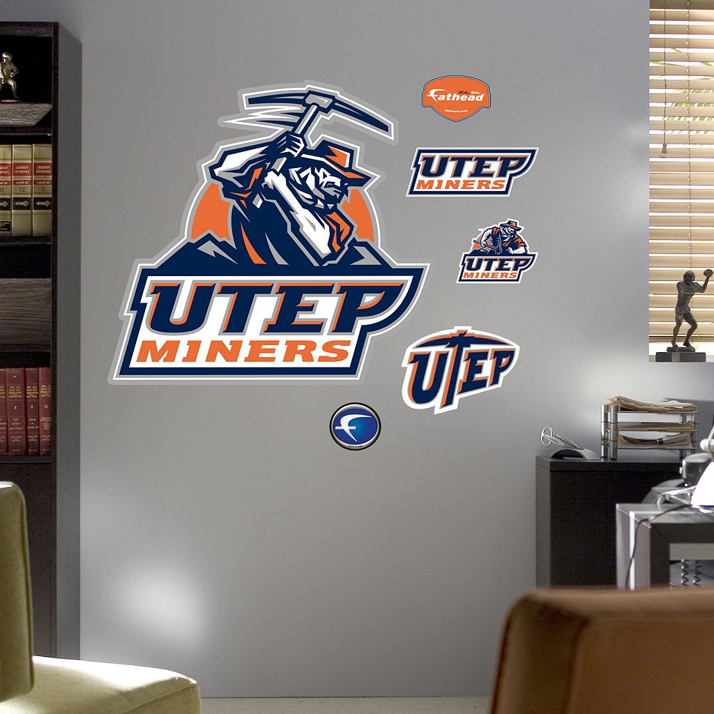Fathead UTEP Miners Logo Wall Decals