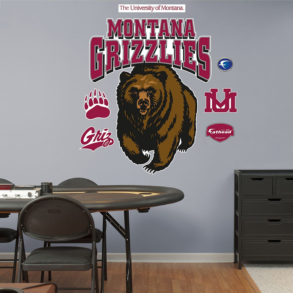 Fathead Montana Grizzlies Logo Wall Decals