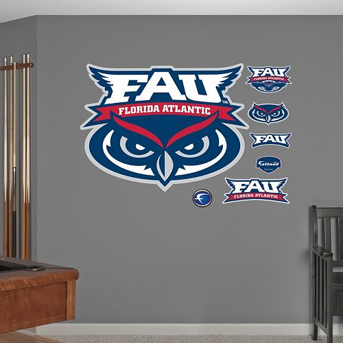 Fathead Florida Atlantic Owls Logo Wall Decals