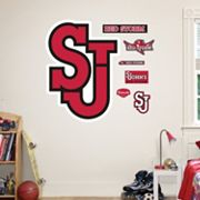 Fathead St. John's Red Storm Logo Wall Decals
