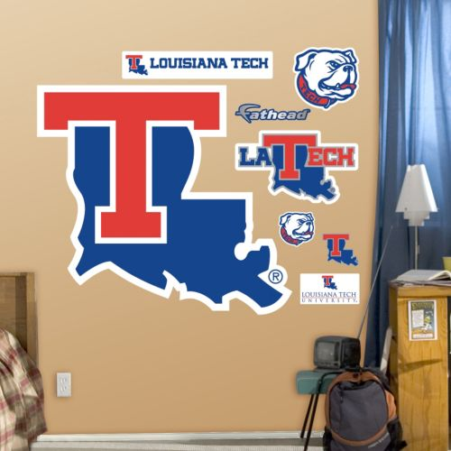 Fathead Louisiana Tech Bulldogs Logo Wall Decals