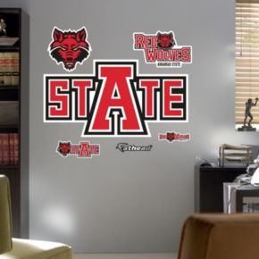 Fathead Arkansas State Red Wolves Logo Wall Decals