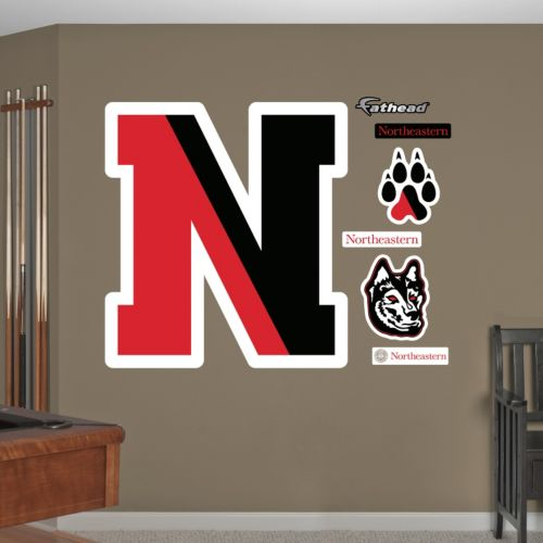 Fathead Northeastern Huskies Wall Decals