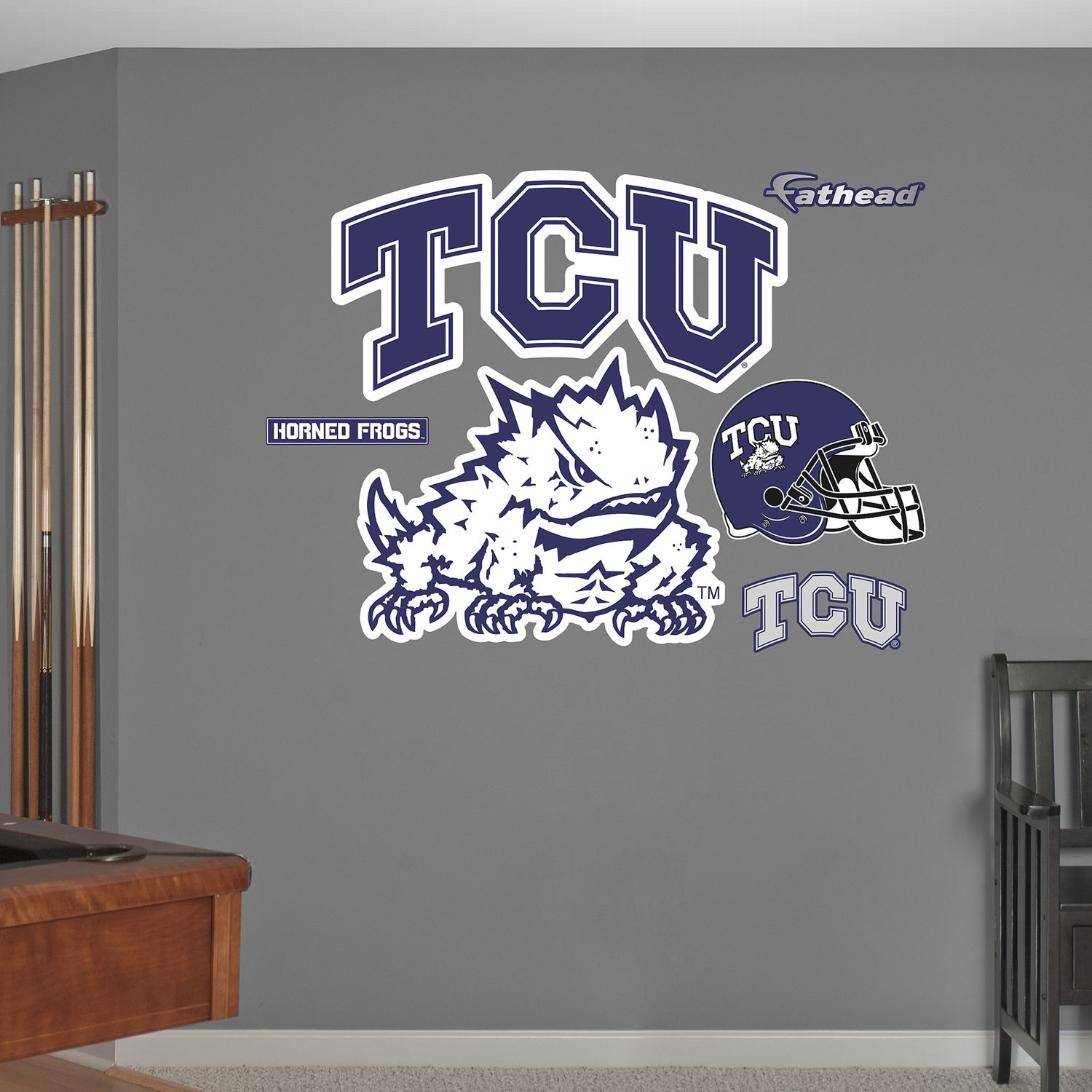 Fathead TCU Horned Frogs Wall Decals Part 33
