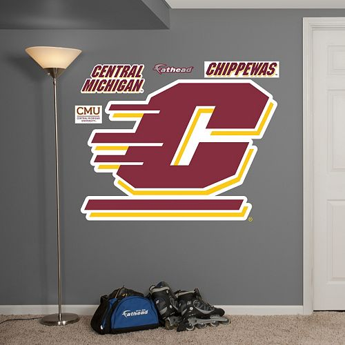 Fathead Central Michigan Chippewas Wall Decals
