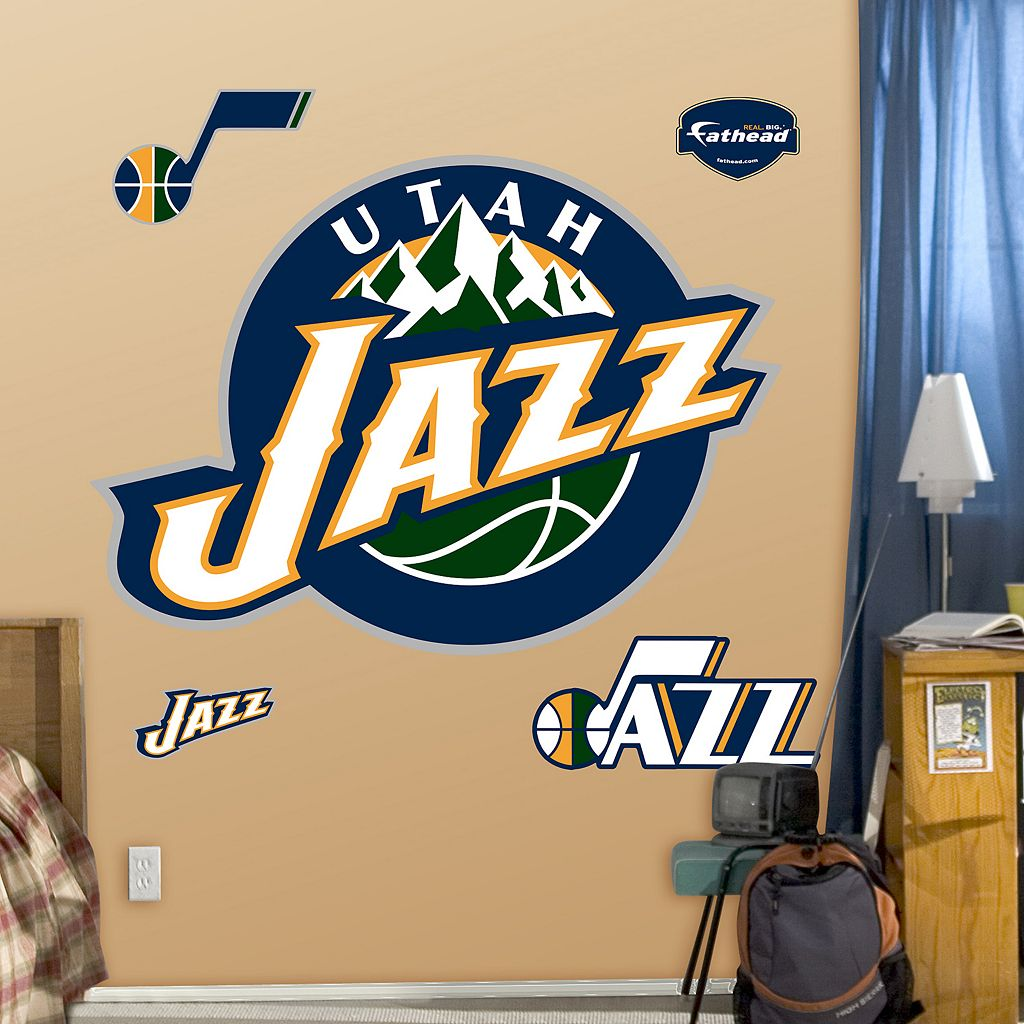 Fathead Utah Jazz Logo Wall Decals