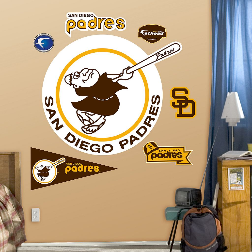 Fathead San Diego Padres Retro Wall Decals