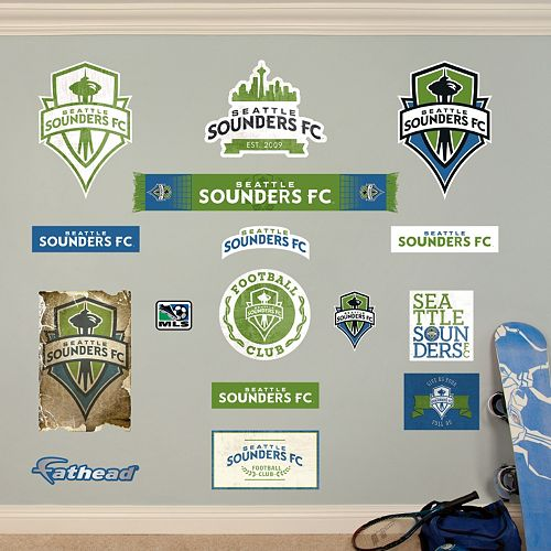 Fathead Seattle Sounders FC 16-Piece Wall Decals