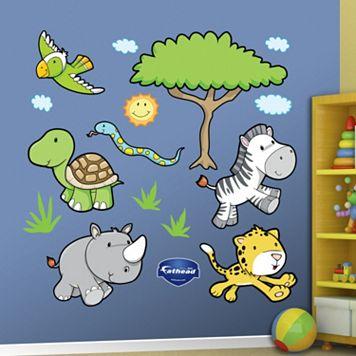 Fathead Jungle Animal Wall Decals