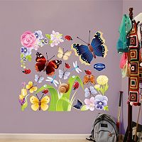 Fathead Floral Butterfly Wall Decals