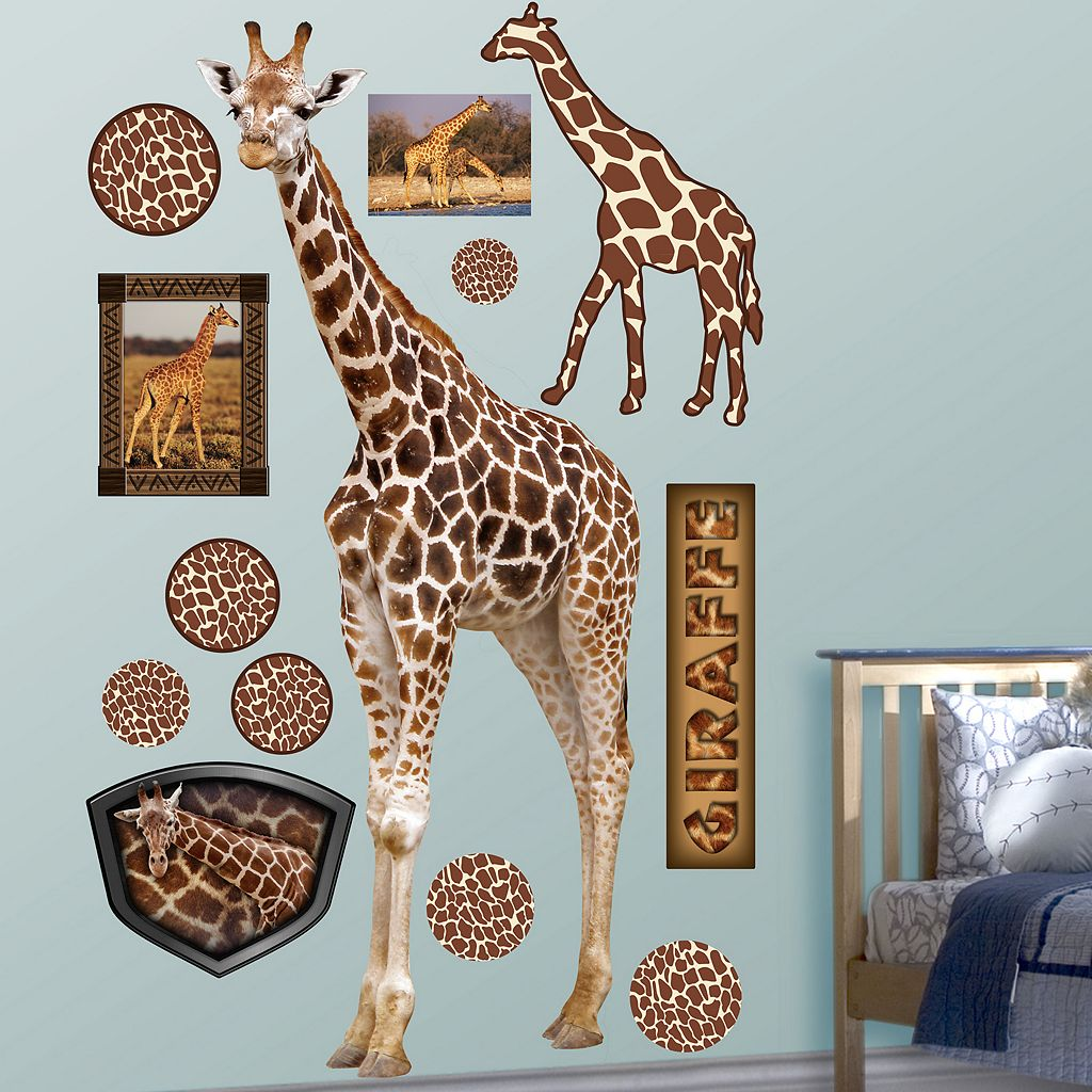 Fathead Giraffe Wall Decals