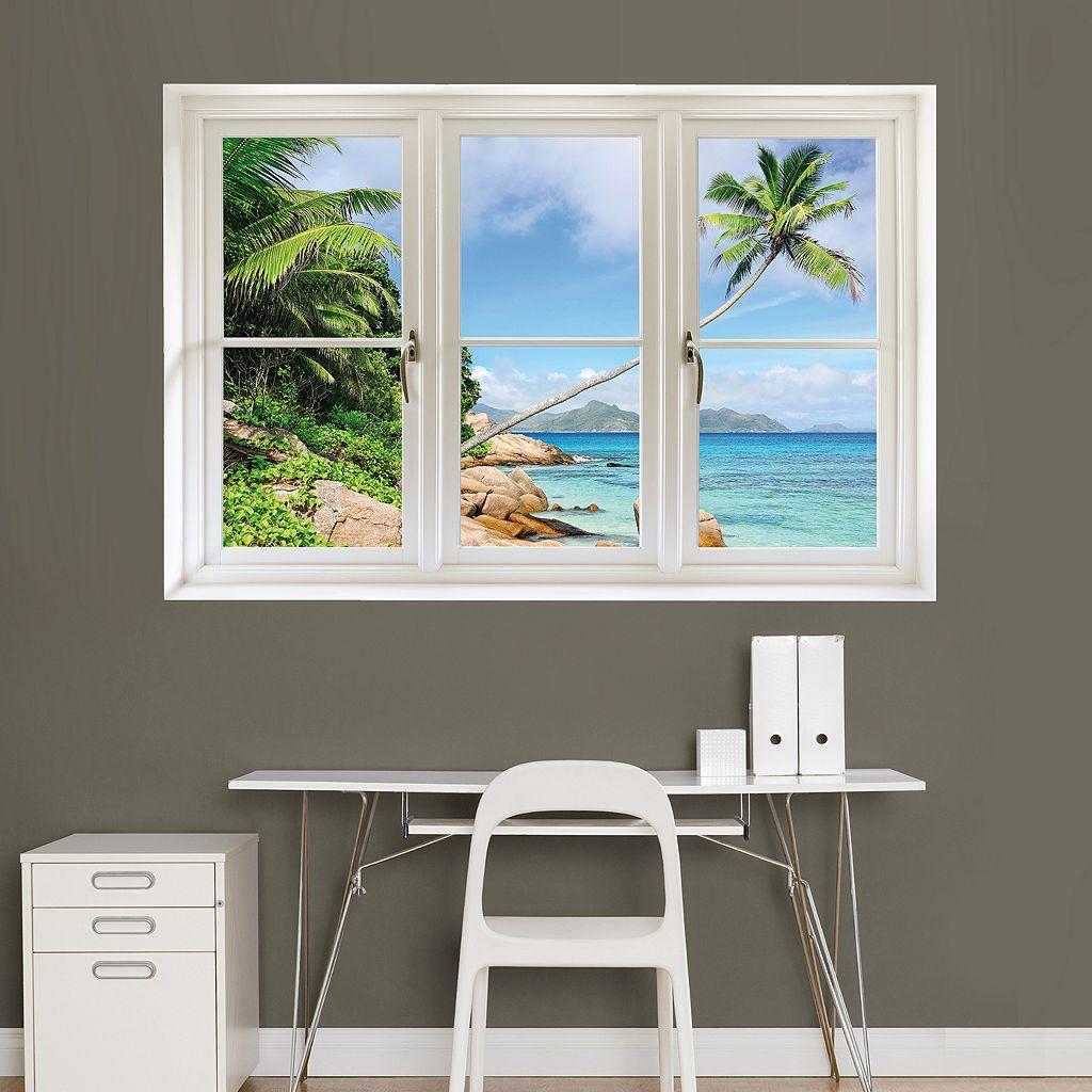 Fathead Tropical Beach Window Wall Decal