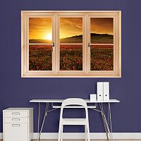Fathead Tuscany Poppy Field Window Wall Decal
