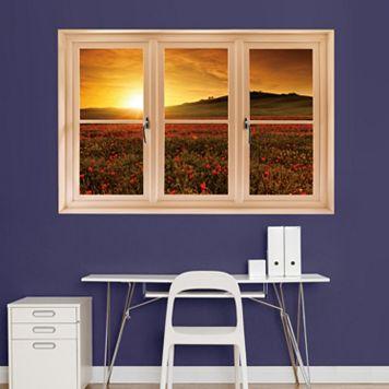 Fathead Tuscany Poppy Field Window Wall Decal
