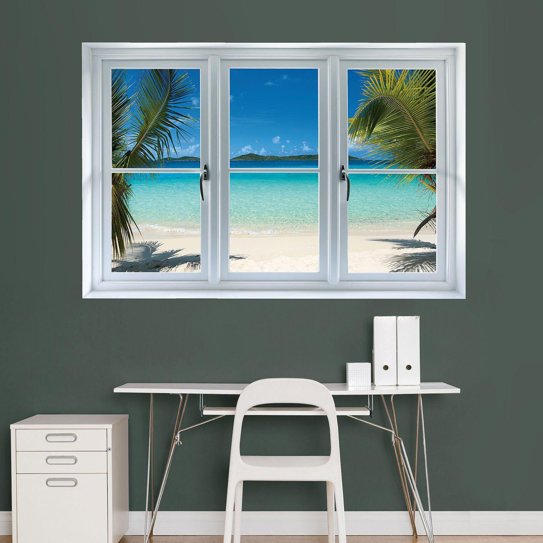 Gentil Fathead Beach Window Wall Decal