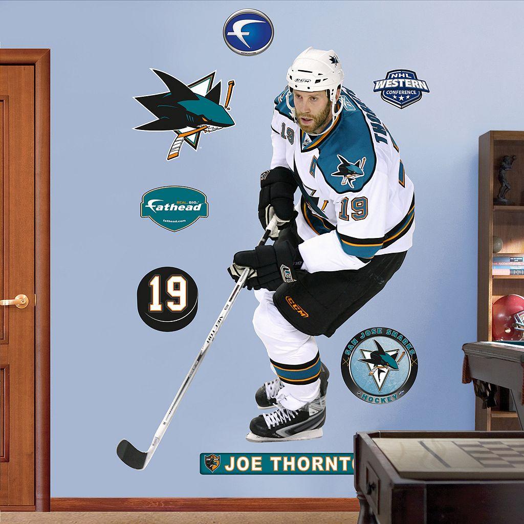 Fathead San Jose Sharks Joe Thornton Wall Decals