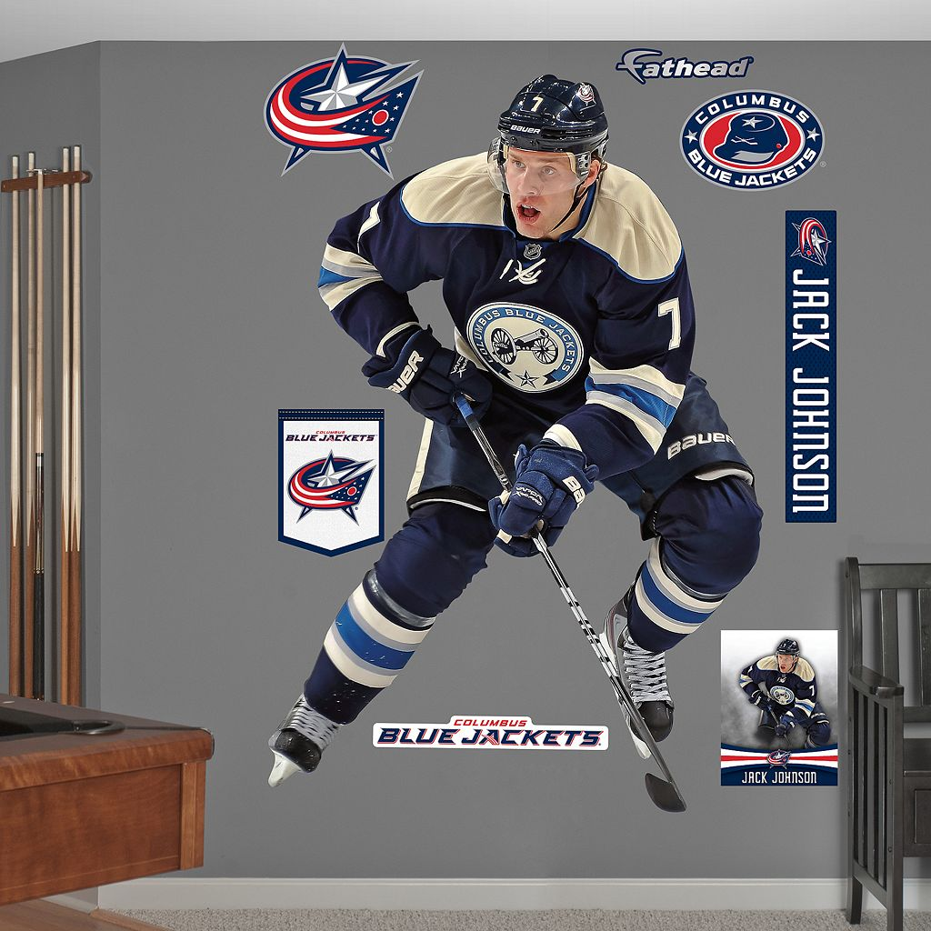 Fathead Columbus Blue Jackets Jack Johnson Wall Decals
