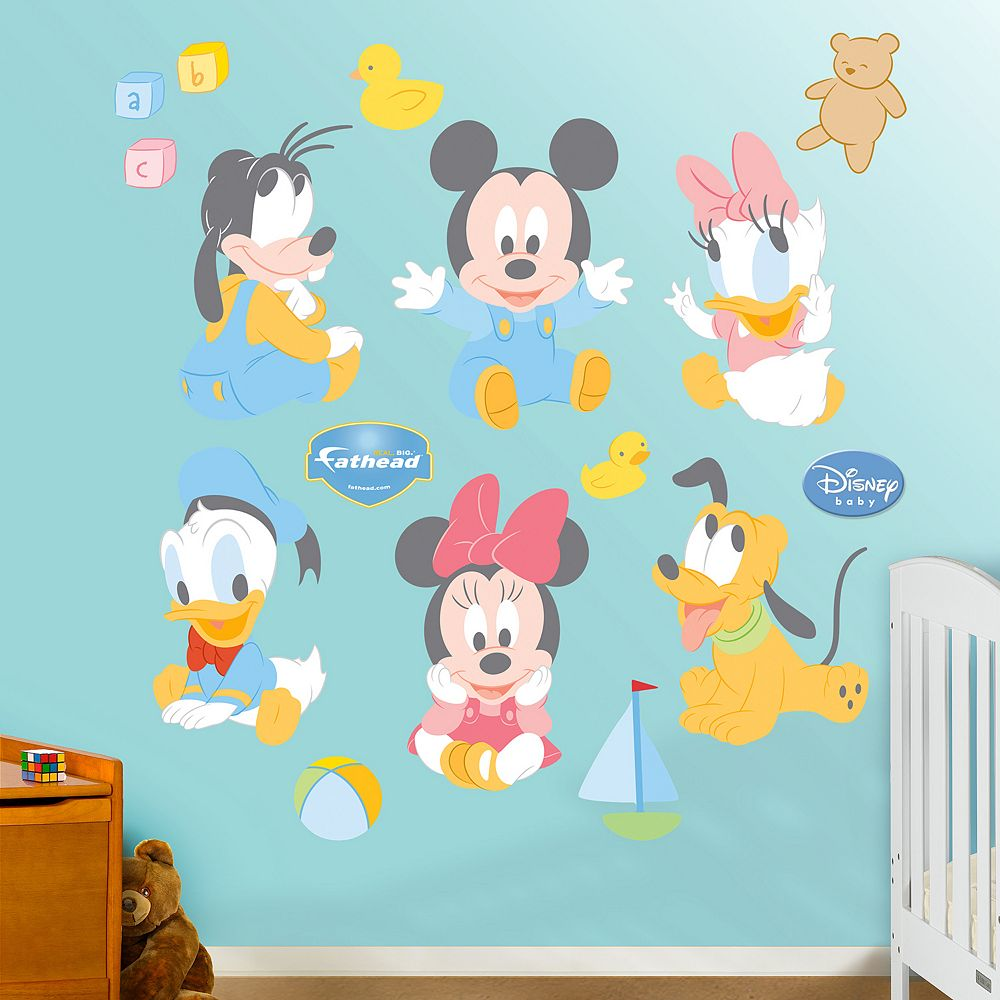 Baby Mickey Mouse  Friends Wall Decals By Fathead - Wall decals disney