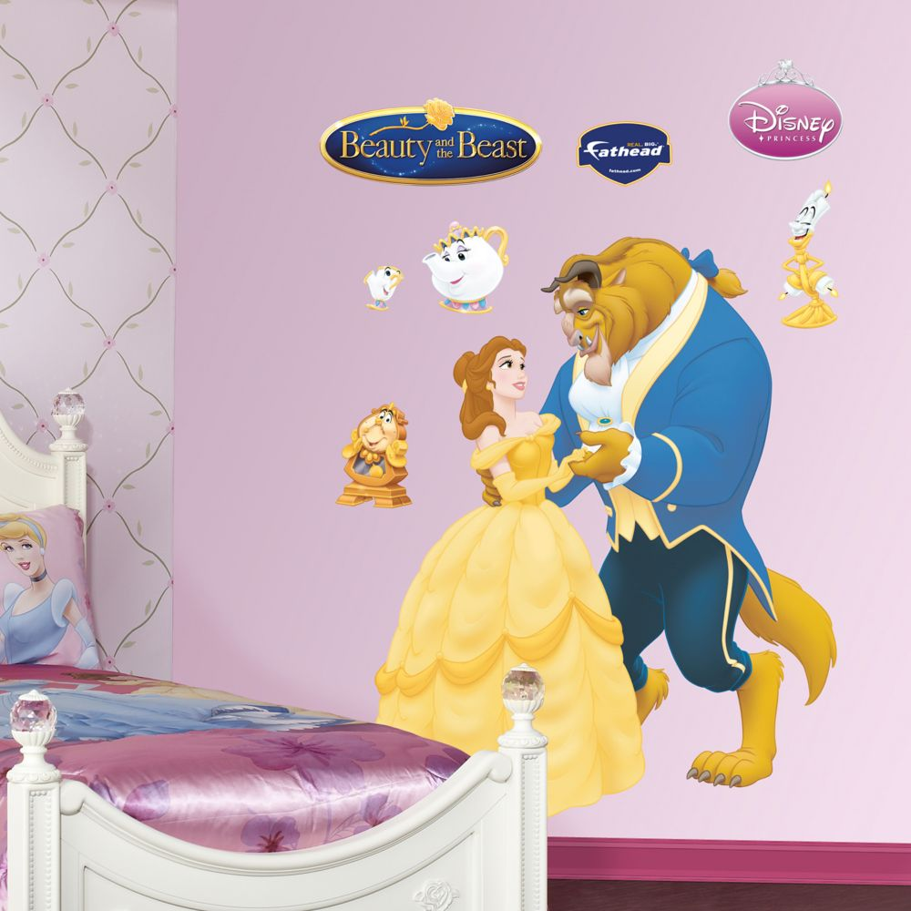 beauty the beast wall decals by fathead disney beauty the beast wall decals by fathead