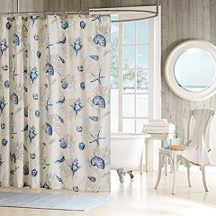 Madison Park Nantucket Fabric Shower Curtain