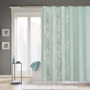 Madison Park Athena Fabric Shower Curtain