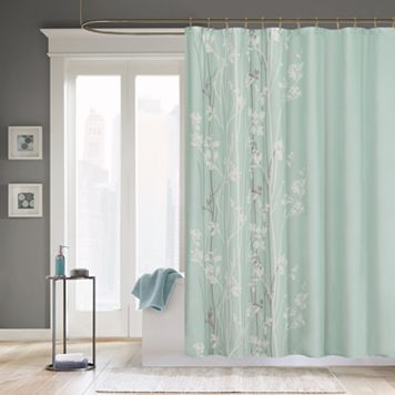 Madison Park Athena Fabric Shower Curtain