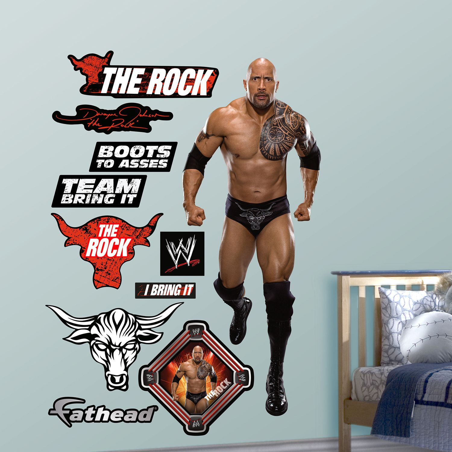 Superbe Fathead The Rock Wall Decals