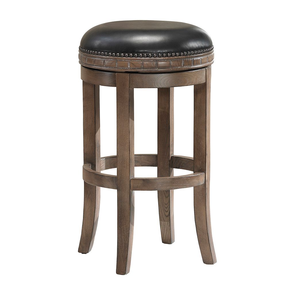 American Heritage Billiards Sonoma Swivel Weathered Counter Stool