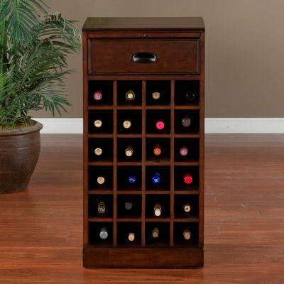 American Heritage Billiards Natalia 24-Bottle Wine Floor Cabinet