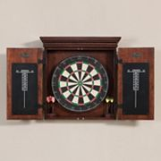 American Heritage Billiards Athos 10 pc Dart Board Cabinet Set