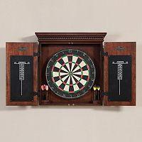 American Heritage Billiards Athos 10-pc. Dart Board Cabinet Set