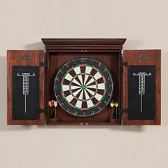 American Heritage Billiards Athos 10-pc. Dart Board Cabinet Set