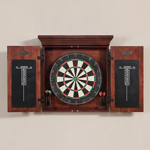 American Heritage Billiards Cavalier 10-pc. Dart Board Cabinet Set