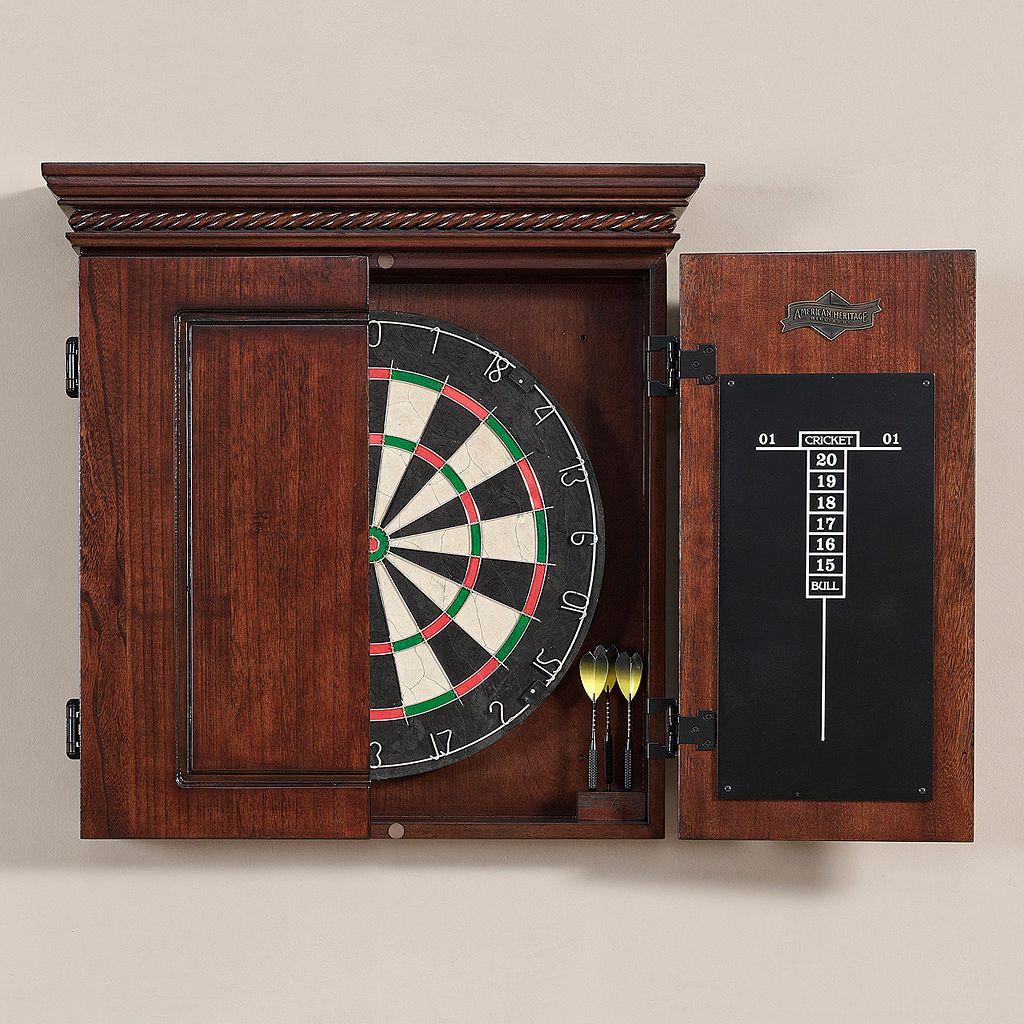 American Heritage Billiards Cavalier 10-pc. Dart Board Cabinet Set
