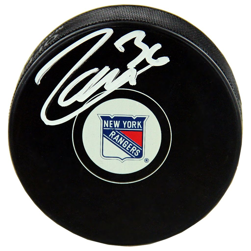 Steiner Sports Mats Zuccarello New York Rangers Autographed Hockey Puck