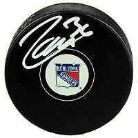 Steiner Sports Mats Zuccarello New York Rangers Autographed Hockey Puck