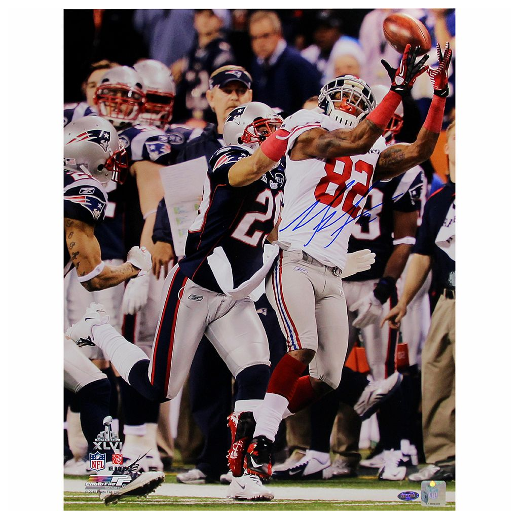 Steiner Sports Mario Manningham Super Bowl XLVI Catch 8'' x 10'' Signed Photo
