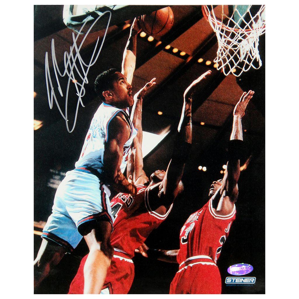 Steiner Sports John Starks Close Up Dunk 8'' x 10'' Signed Photo