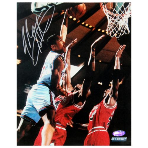 "Steiner Sports John Starks Close Up Dunk 8"" x 10"" Signed Photo"