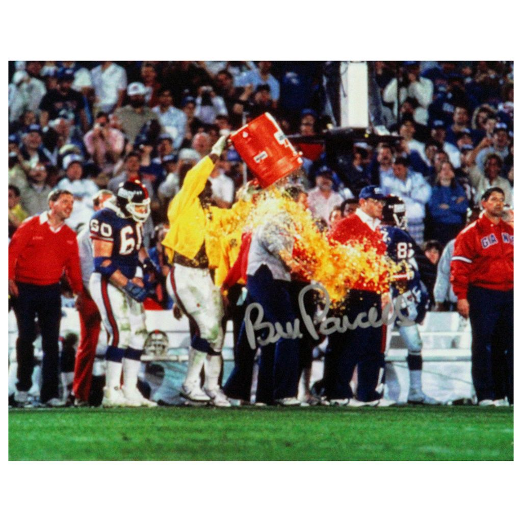 Steiner Sports Bill Parcells Super Bowl XXI Gatorade Shower 8'' x 10'' Signed Photo