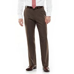 Van Heusen Ultimate Traveler Melange Straight Fit Flat Front Dress Pants