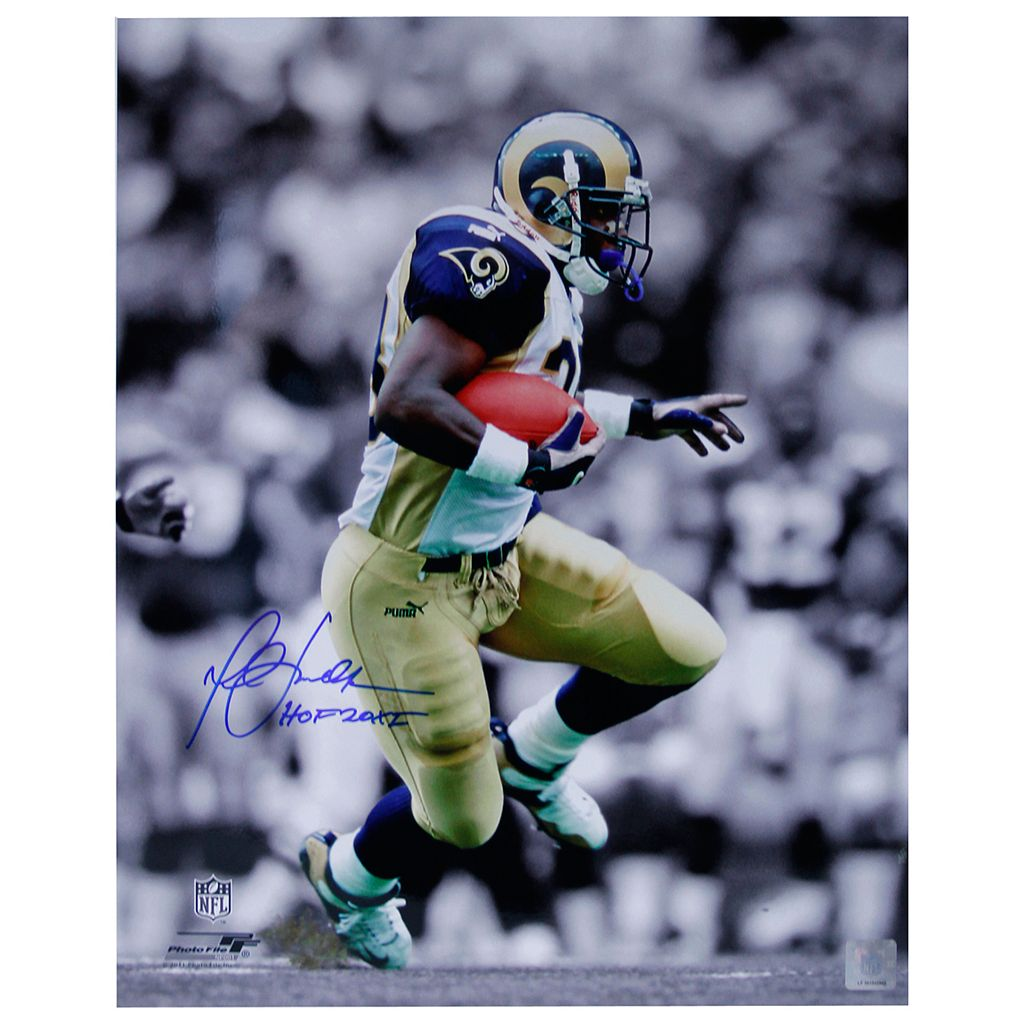 Steiner Sports Marshall Faulk Rushing 8'' x 10'' Signed Photo