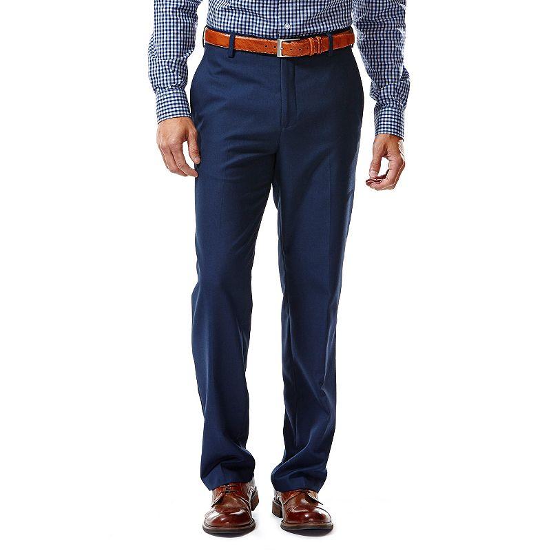Haggar 1926 Originals Tailored-Fit Straight-Leg Cross-Dye Navy Suit Pants - Men