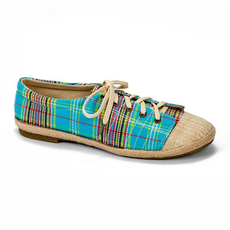 MUK LUKS Blue Paige Canvas Sneakers - Women
