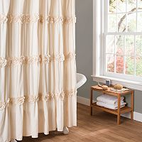 Lush Decor Darla Fabric Shower Curtain